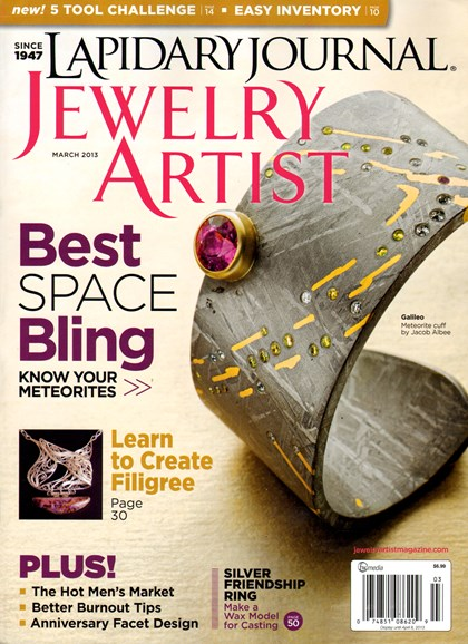 Lapidary Journal Jewelry Artist Cover - 3/1/2013