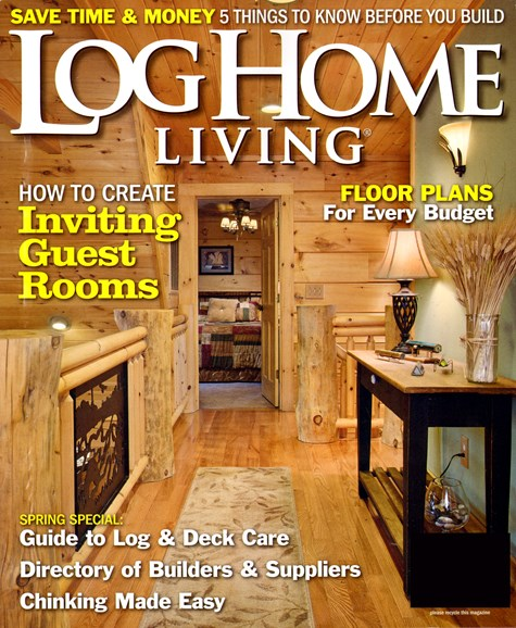 Log and Timber Home Living Cover - 3/1/2013