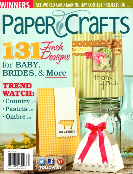 Paper Crafts Cover - 3/1/2013