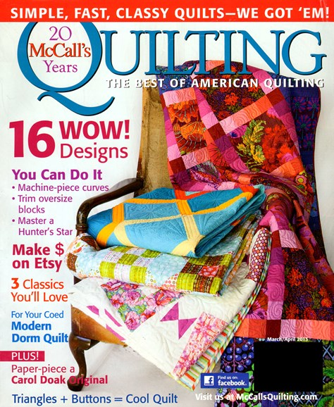 McCall's Quilting Cover - 3/1/2013
