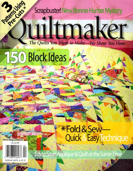 Quiltmaker Cover - 3/1/2013