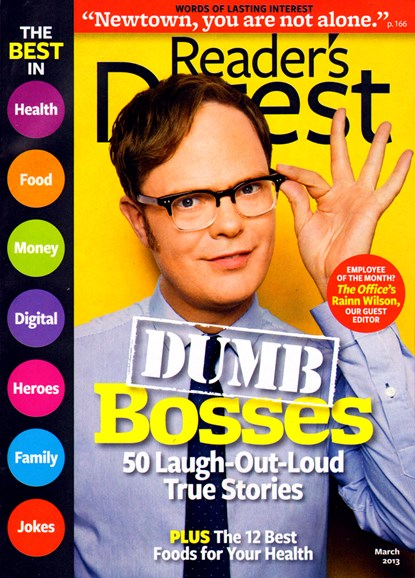 Reader's Digest Cover - 3/1/2013