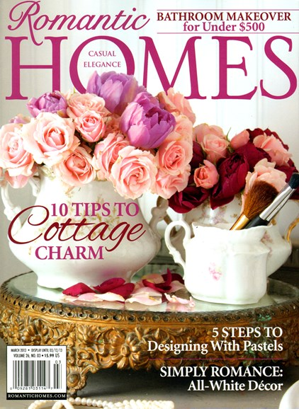 Romantic Homes Cover - 3/1/2013