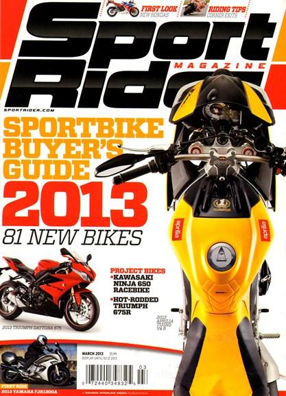 Sport Rider Cover - 3/1/2013