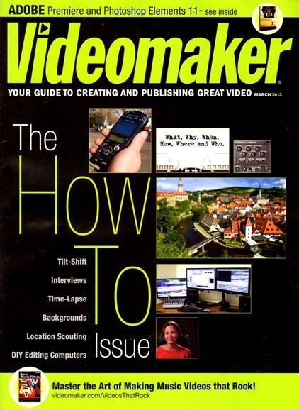 Videomaker Cover - 3/1/2013