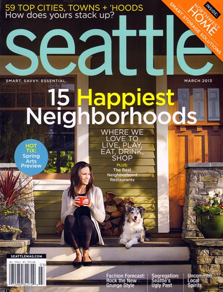 Seattle Magazine Cover - 3/1/2013