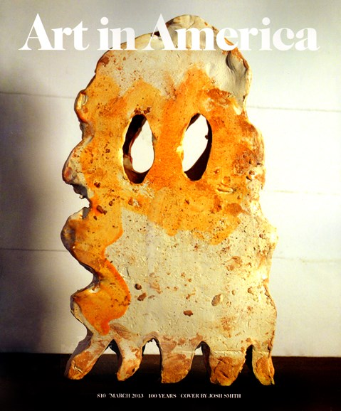 Art In America Cover - 3/1/2013