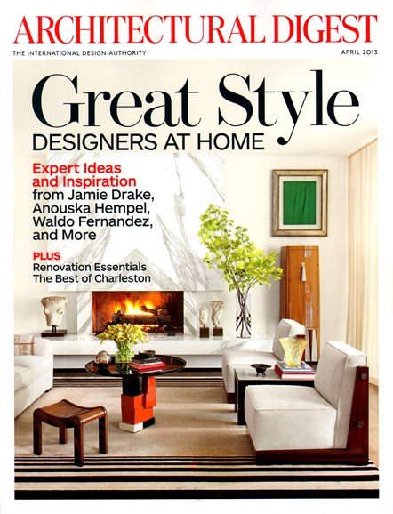 Architectural Digest Cover - 4/1/2013