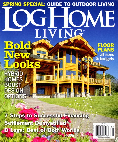 Log and Timber Home Living Cover - 4/1/2013