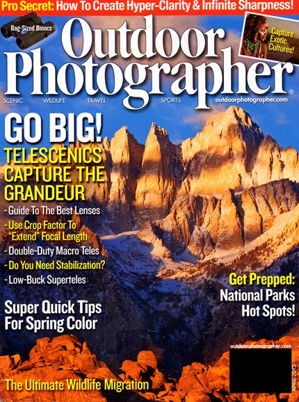 Outdoor Photographer Cover - 4/1/2013