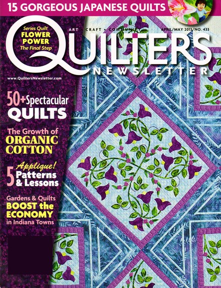 Quilter's Newsletter Cover - 4/1/2013