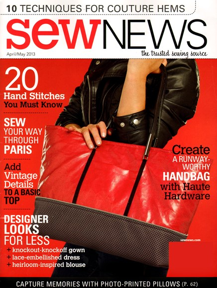 Sew News Cover - 4/1/2013