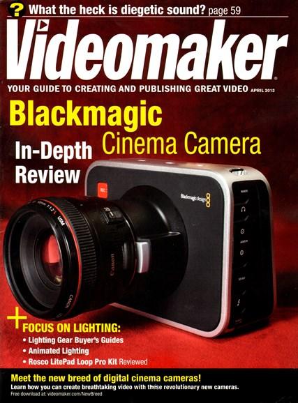Videomaker Cover - 4/1/2013