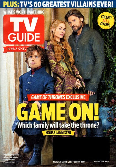 TV Guide Cover - 3/25/2013