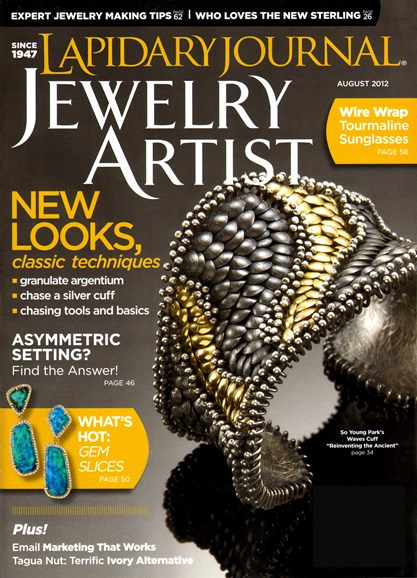 Lapidary Journal Jewelry Artist Cover - 8/1/2012