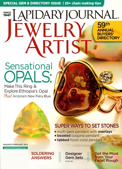 Lapidary Journal Jewelry Artist Cover - 1/1/2012