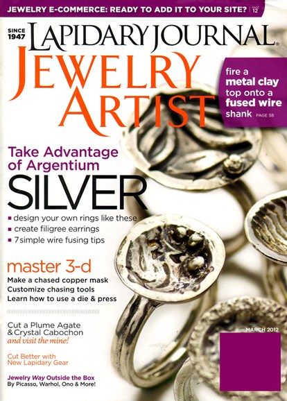Lapidary Journal Jewelry Artist Cover - 3/1/2012