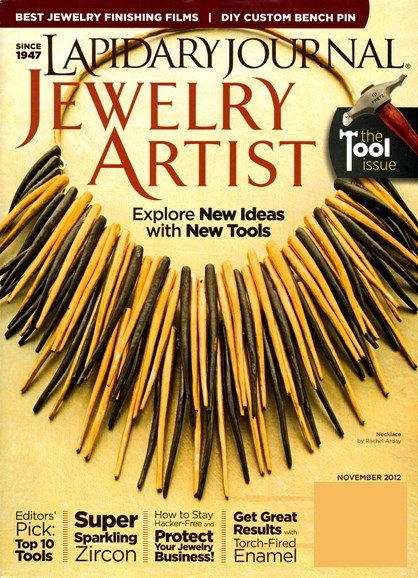 Lapidary Journal Jewelry Artist Cover - 11/1/2012