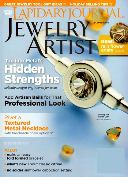 Lapidary Journal Jewelry Artist Cover - 12/1/2012