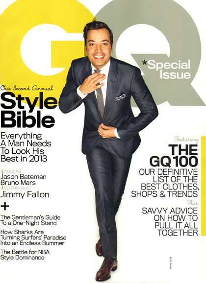 Gentlemen's Quarterly - GQ Cover - 4/1/2013