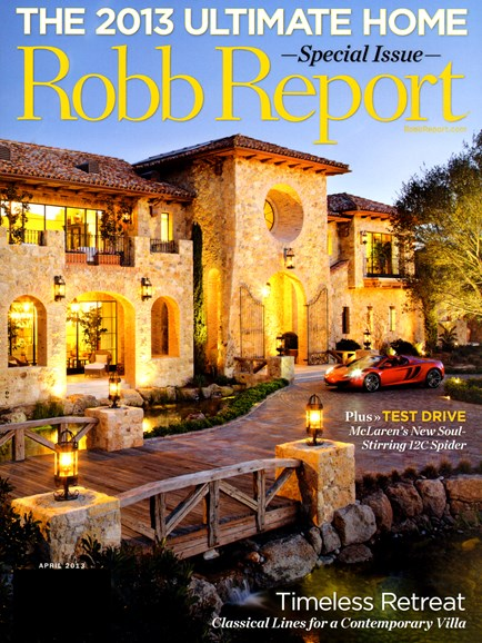 Robb Report Cover - 4/1/2013