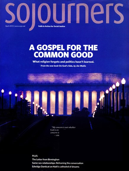 Sojourners Cover - 4/1/2013