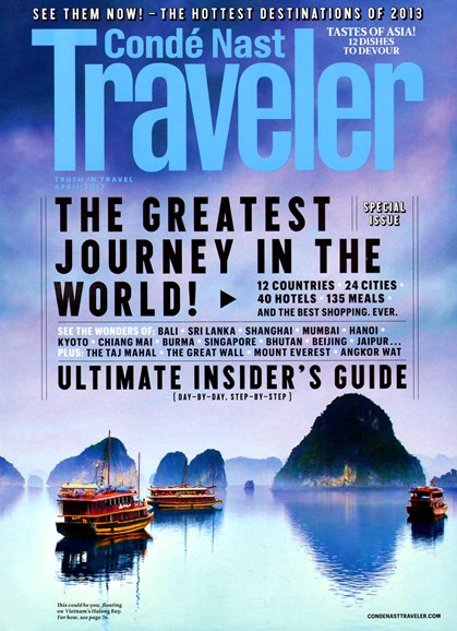 Condé Nast Traveler Cover - 4/1/2013