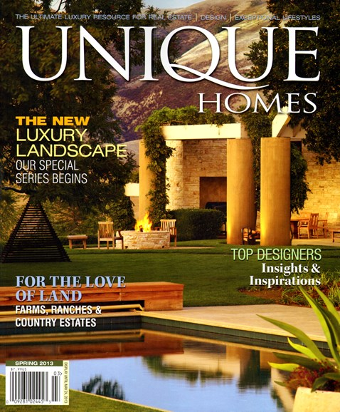Unique Homes Cover - 3/1/2013