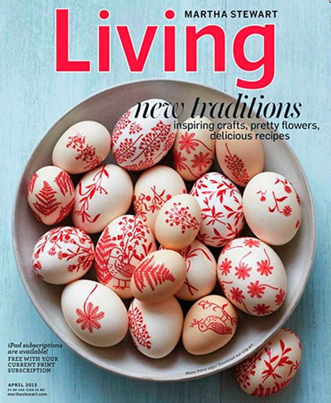 Martha Stewart Living Cover - 4/1/2013