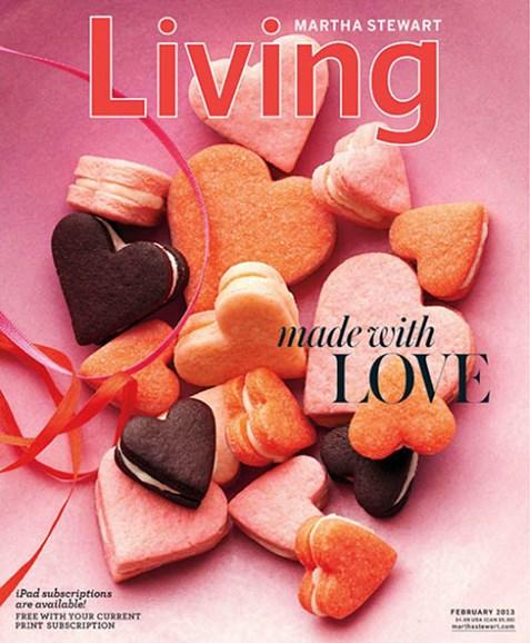 Martha Stewart Living Cover - 2/1/2013