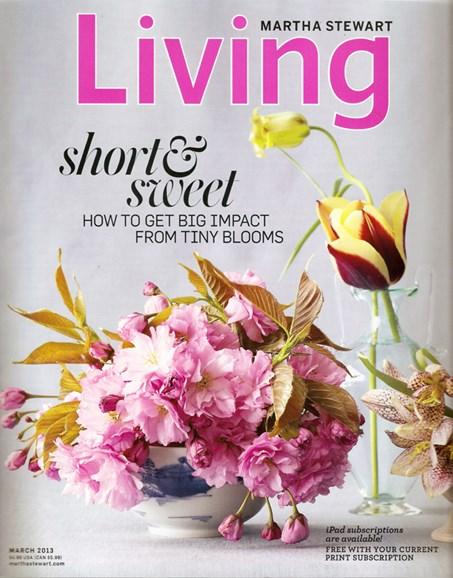 Martha Stewart Living Cover - 3/1/2013