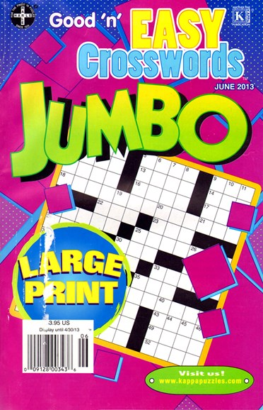 Good N Easy Crosswords Jumbo Cover - 6/1/2013