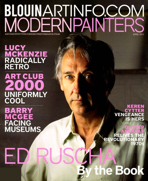 Blouin Modern Painters Cover - 4/1/2013