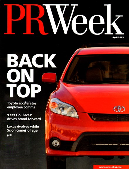 PRWeek Cover - 4/1/2013