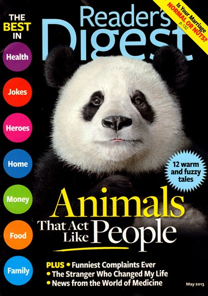 Reader's Digest Cover - 5/1/2013