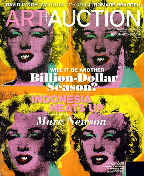 Blouin Art & Auction Cover - 5/1/2013