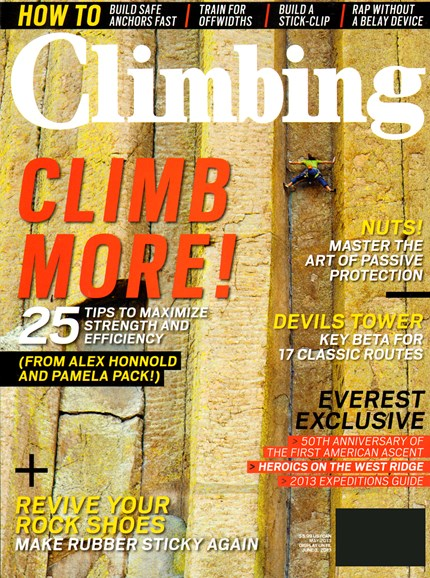 Climbing Magazine Cover - 5/1/2013