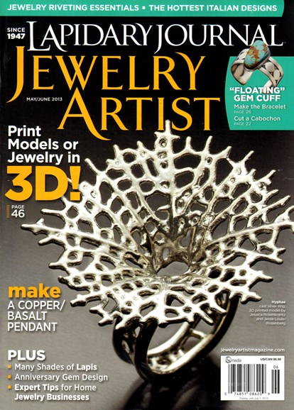 Lapidary Journal Jewelry Artist Cover - 5/1/2013