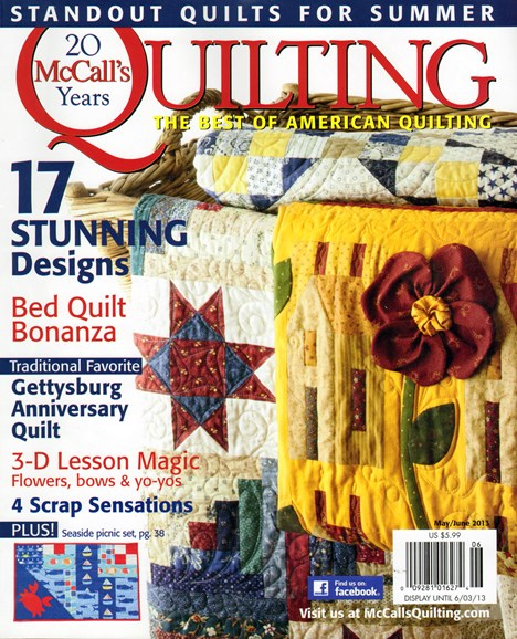 McCall's Quilting Cover - 5/1/2013