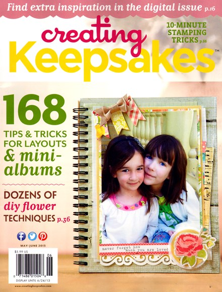 Creating Keepsakes Cover - 5/1/2013