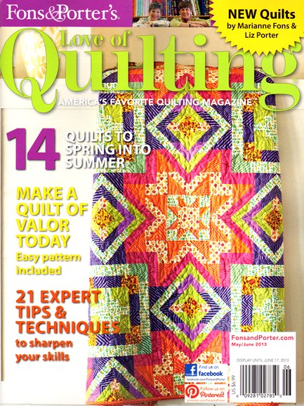 Fons & Porter's Love of Quilting Cover - 5/1/2013