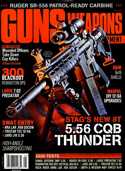 Guns & Weapons For Law Enforcement Cover - 5/1/2013