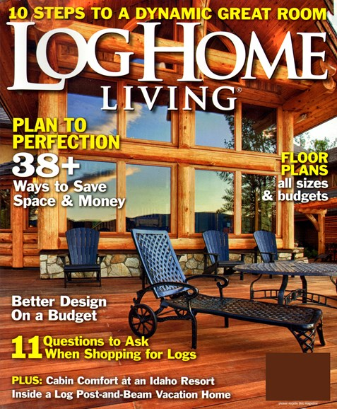 Log and Timber Home Living Cover - 5/1/2013