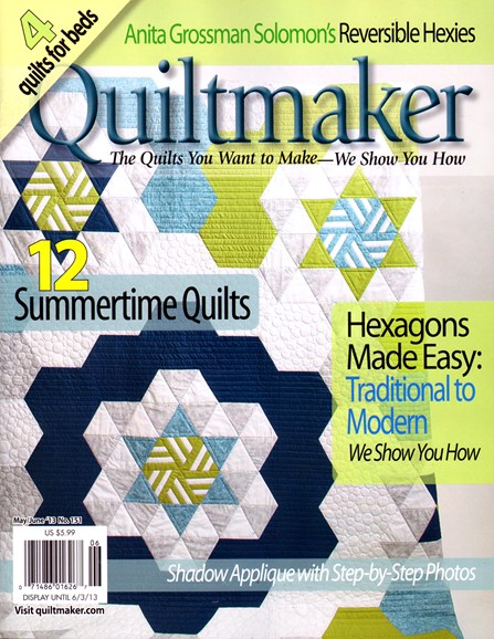 Quiltmaker Cover - 5/1/2013
