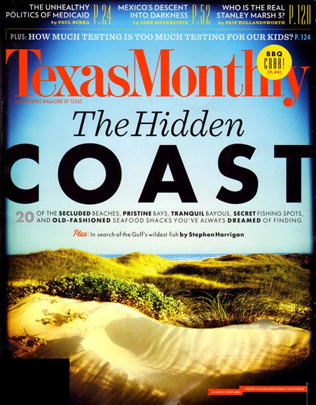 Texas Monthly Cover - 5/1/2013