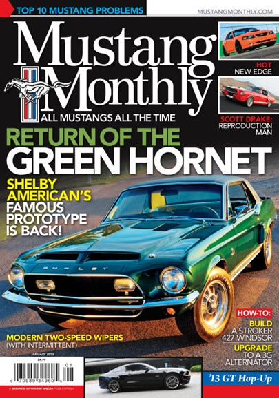 Mustang Monthly Cover - 1/1/2013