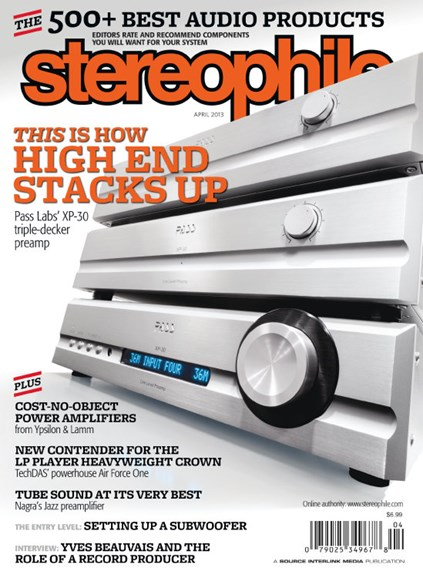 Stereophile Cover - 4/1/2013