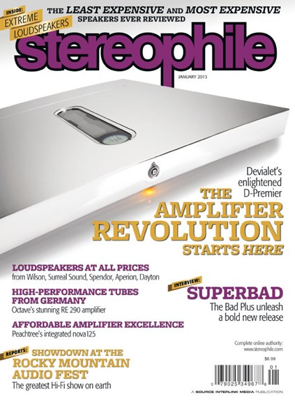 Stereophile Cover - 1/1/2013