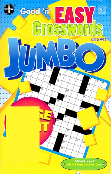 Good N Easy Crosswords Jumbo Cover - 7/1/2013