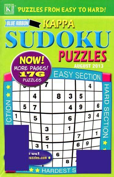 Blue Ribbon Kappa Sudoku Puzzles Cover - 8/1/2013